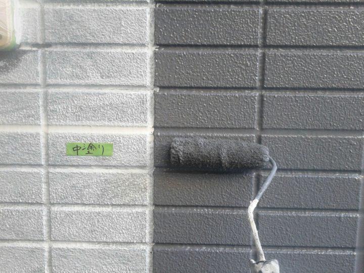 外壁塗装①/中塗り