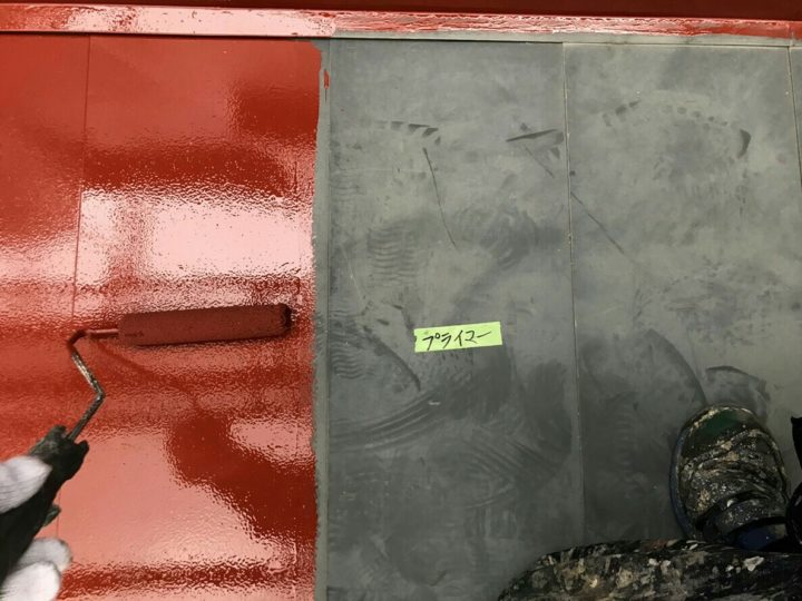 鉄部屋根塗装/下塗り