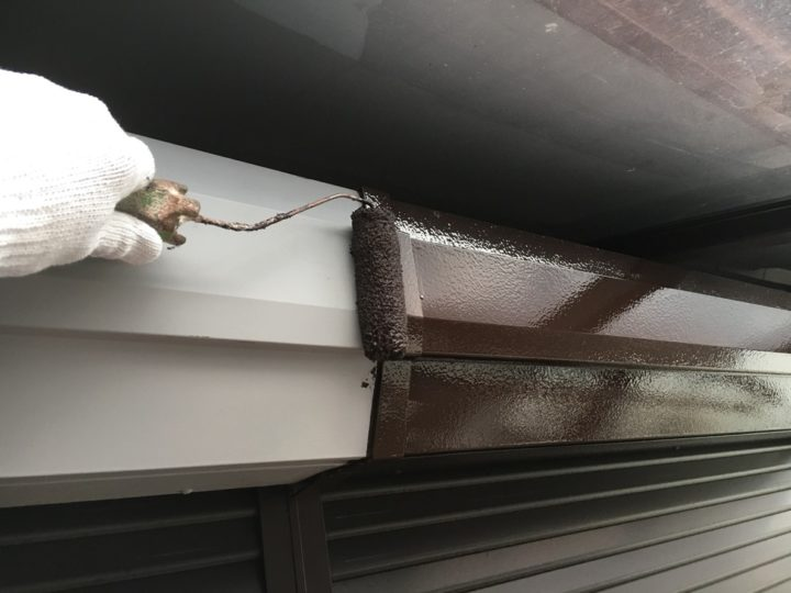 鉄部塗装/シャッターボックス