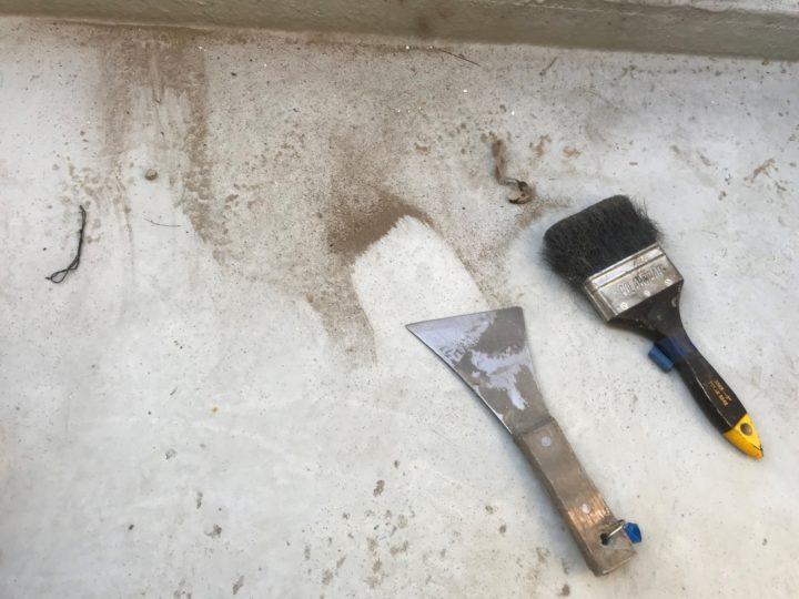 バルコニー防水/ケレン・清掃