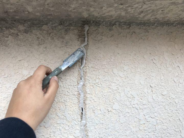 外壁クラック補修③