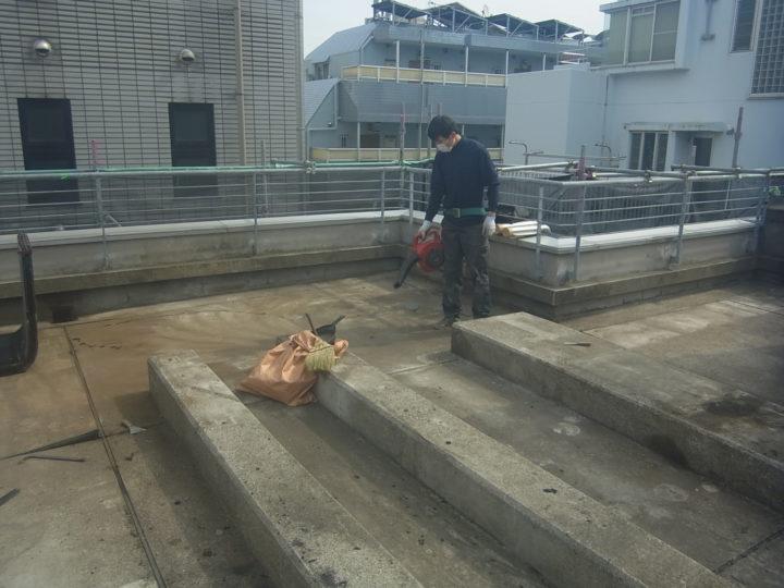 屋上/清掃
