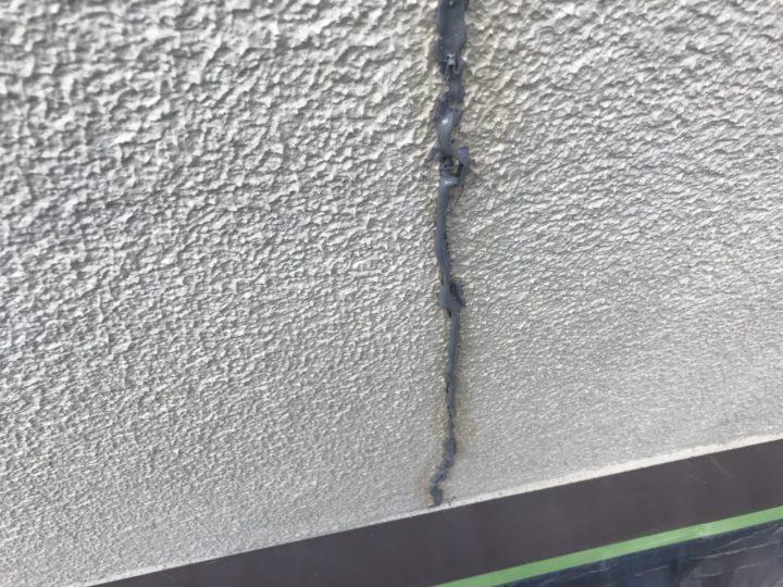 外壁クラック処理③