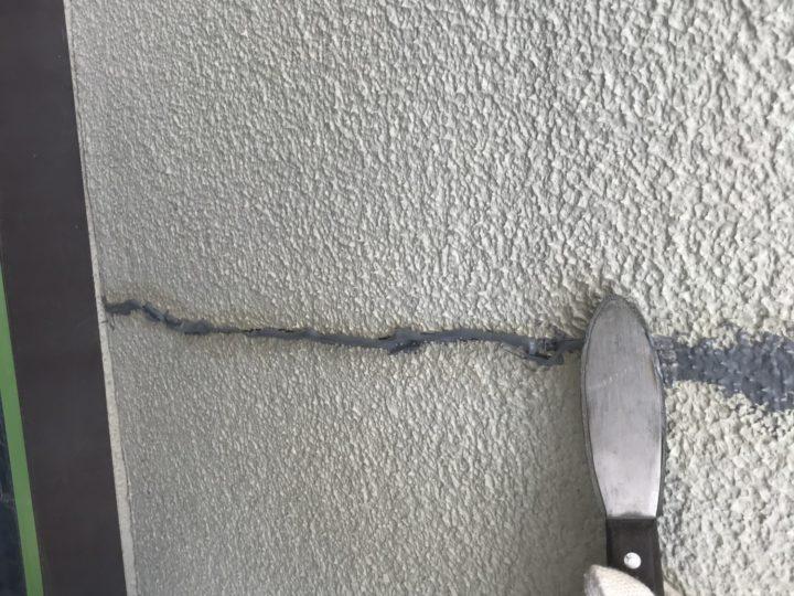 外壁クラック処理④