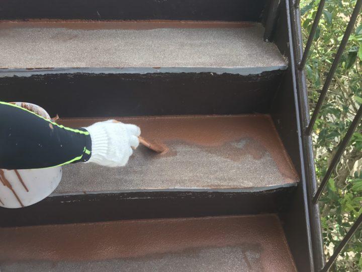 上塗り(階段)