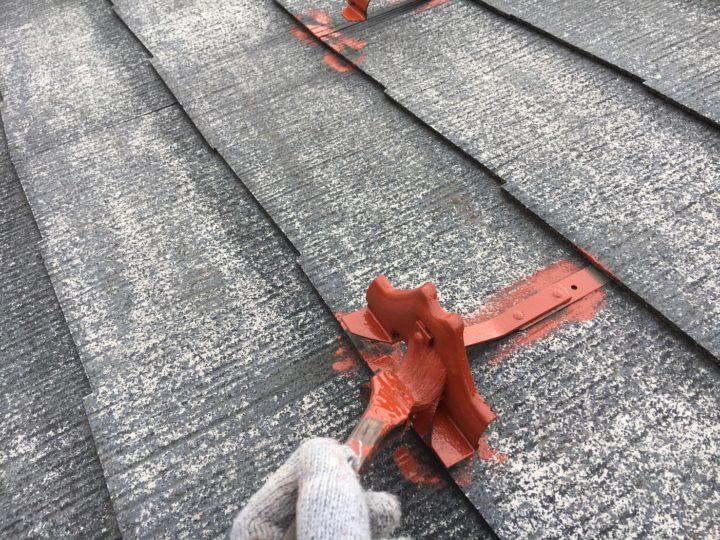 屋根鉄部塗装①
