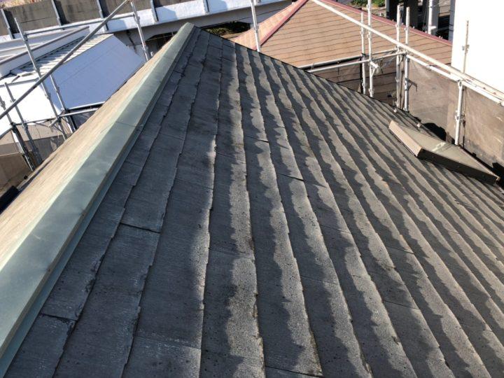 屋根重ね葺き①