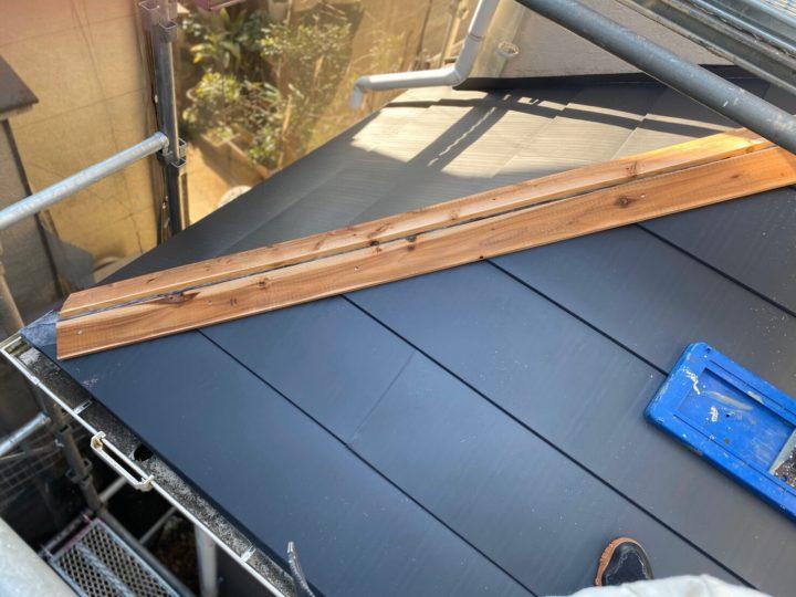 屋根重ね葺き④