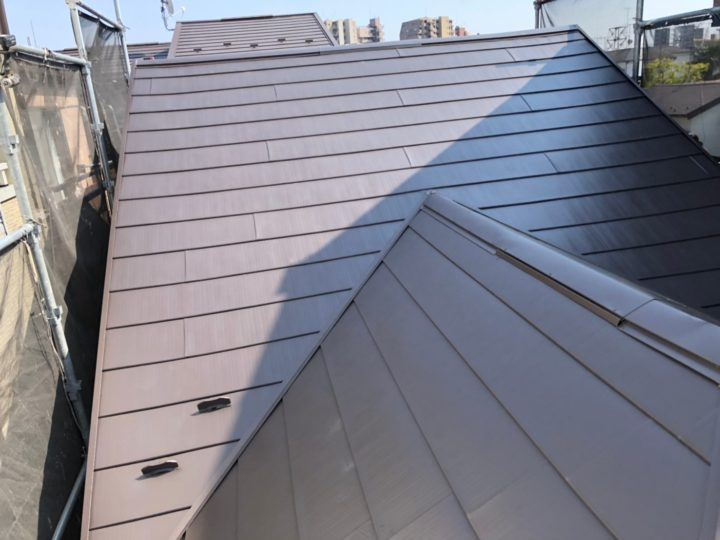 【江戸川区】屋根重ね葺き・O様邸