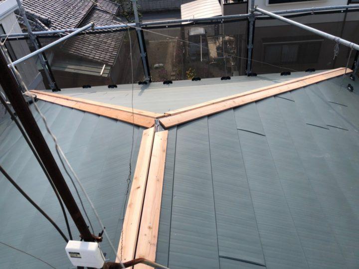 屋根重ね葺き⑦
