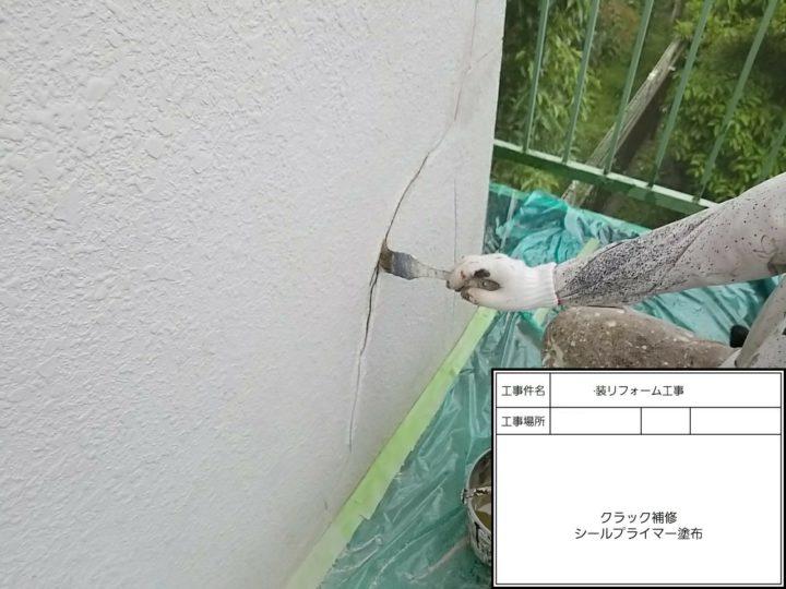 外壁クラック補修④