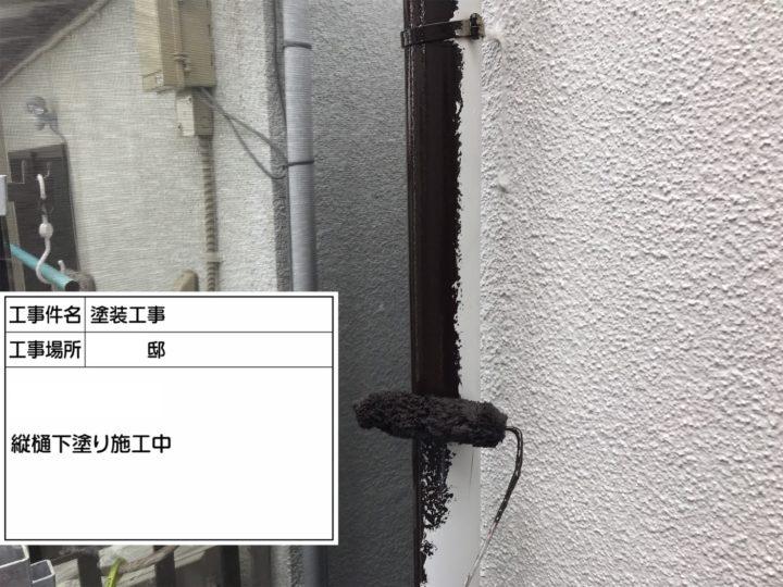 縦樋塗装①