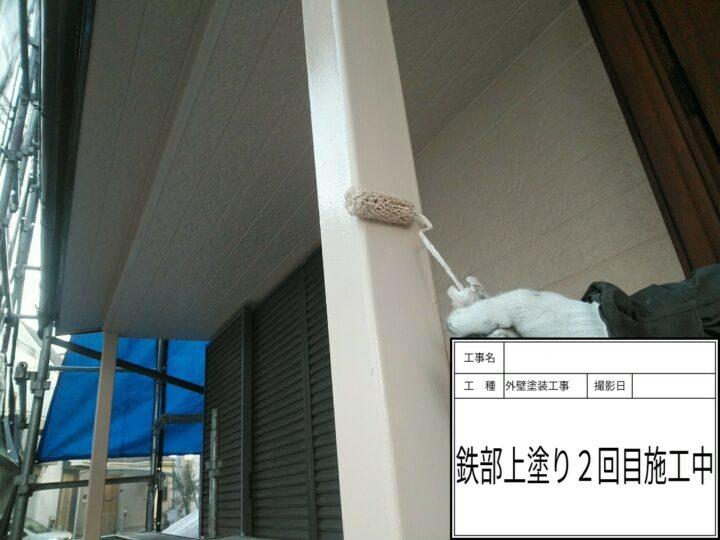 鉄柱塗装③