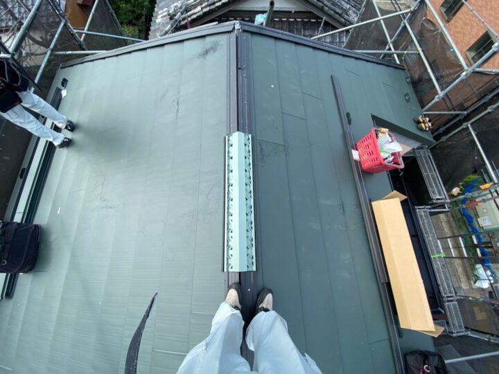 屋根重ね葺き工事⑦