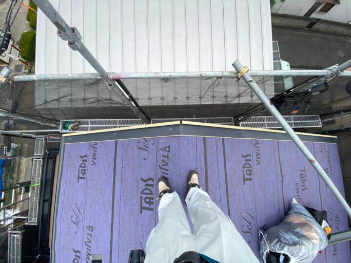 屋根重ね葺き工事④