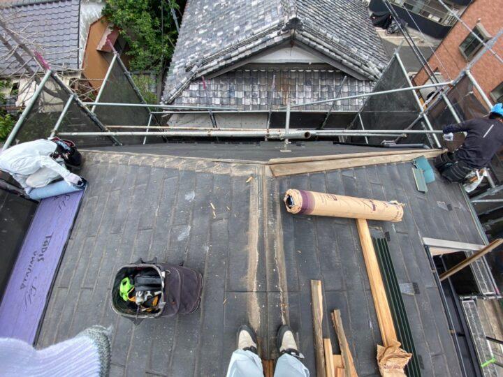 屋根重ね葺き工事②